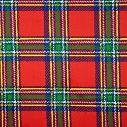 Bawełna krata czerwono zielona