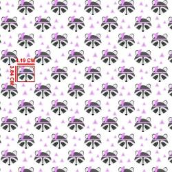 Tkanina w szopy z piórkiem różowym na białym tle