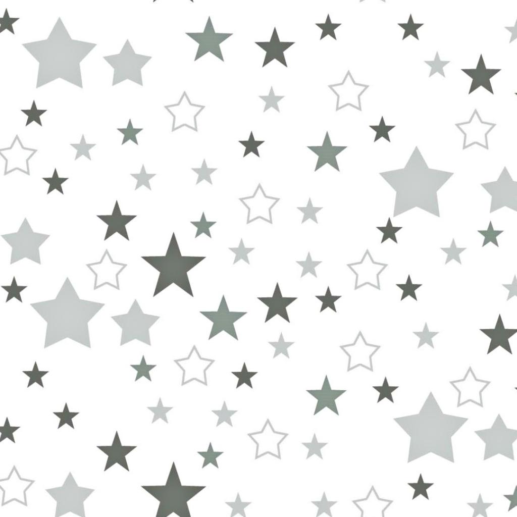 Tkanina gwiazdozbiór szary na białym tle