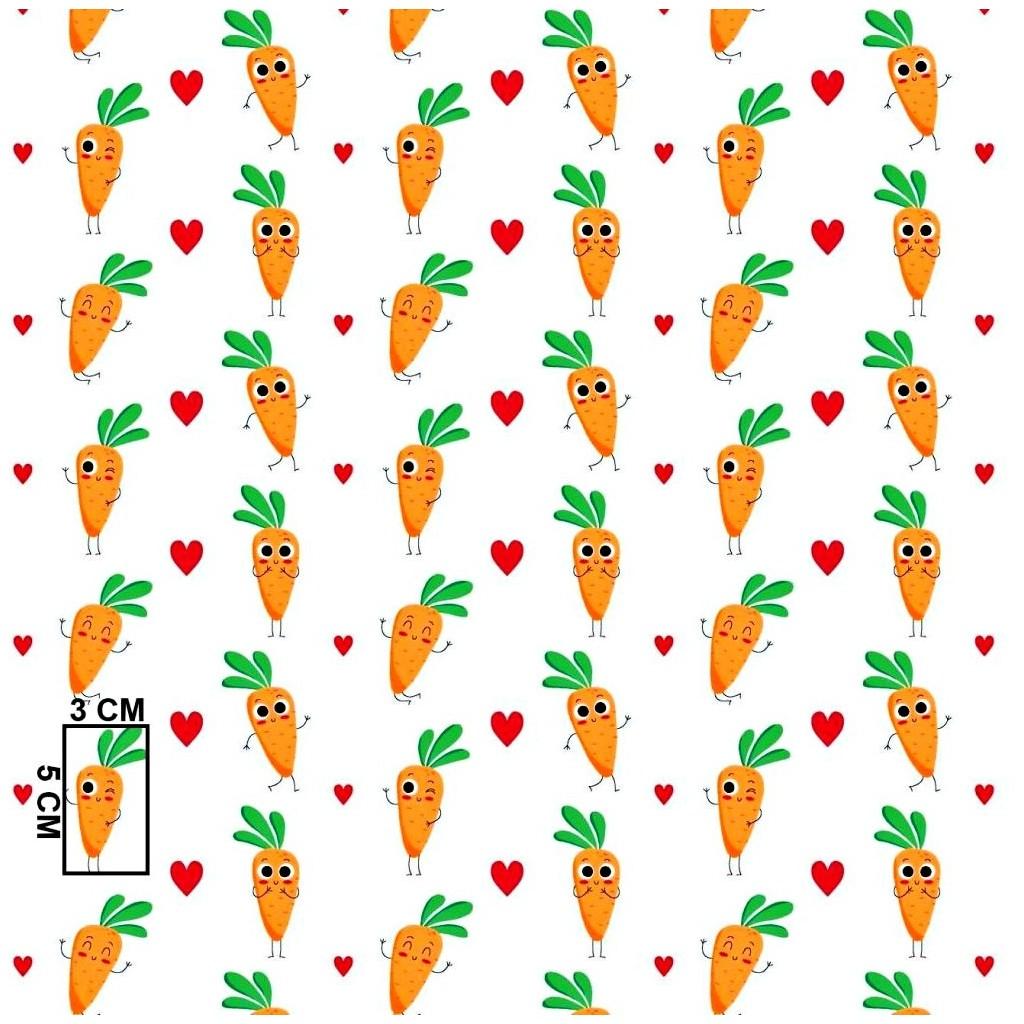 Tkanina w marchewki pomarańczowe na białym tle