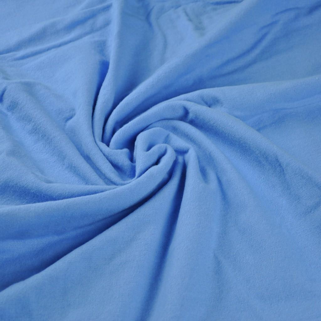 Tkanina Flanela niebieska
