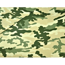 Bawełna wzór MORO duży zielono beżowy