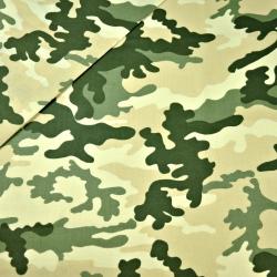 Tkanina wzór MORO duży zielono beżowy