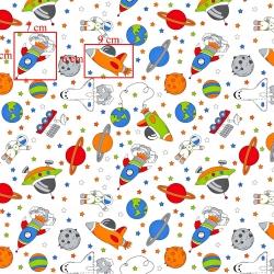 Tkanina w  kosmos kolorowy na białym tle