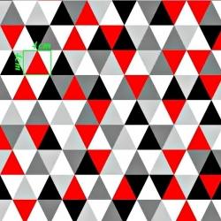 Tkanina w trójkąty duże czerwono szare