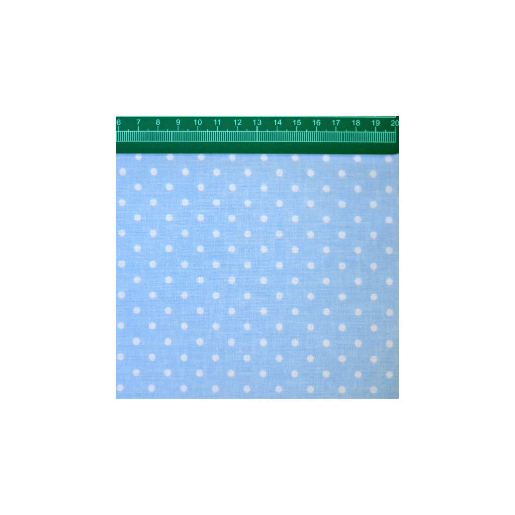 Tkanina w Kropki białe na niebieskim tle