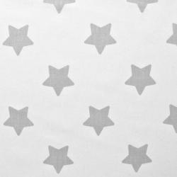 Bawełna gwiazdki piernikowe szare na białym tle