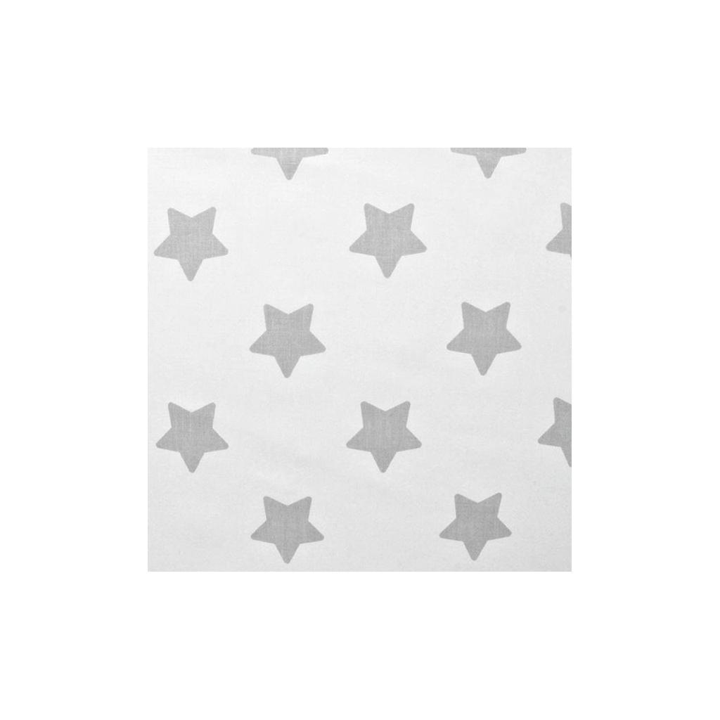Tkanina w gwiazdki piernikowe szare na białym tle