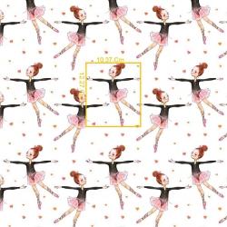 Tkanina w baletnice różowo brązowe na białym tle