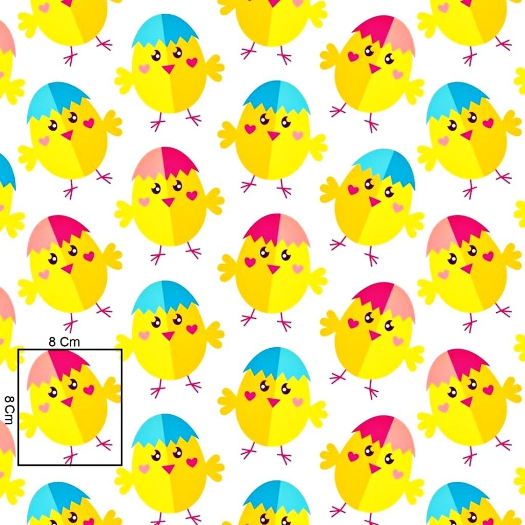 Tkanina w kurczaki wielkanocne na białym tle