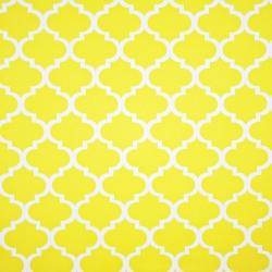 Bawełna wzór Maroko duże żółte