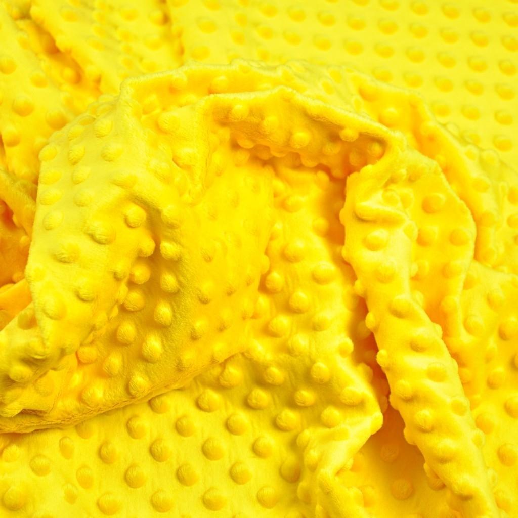 Materiał Minky Premium żółty (Aspen Gold)