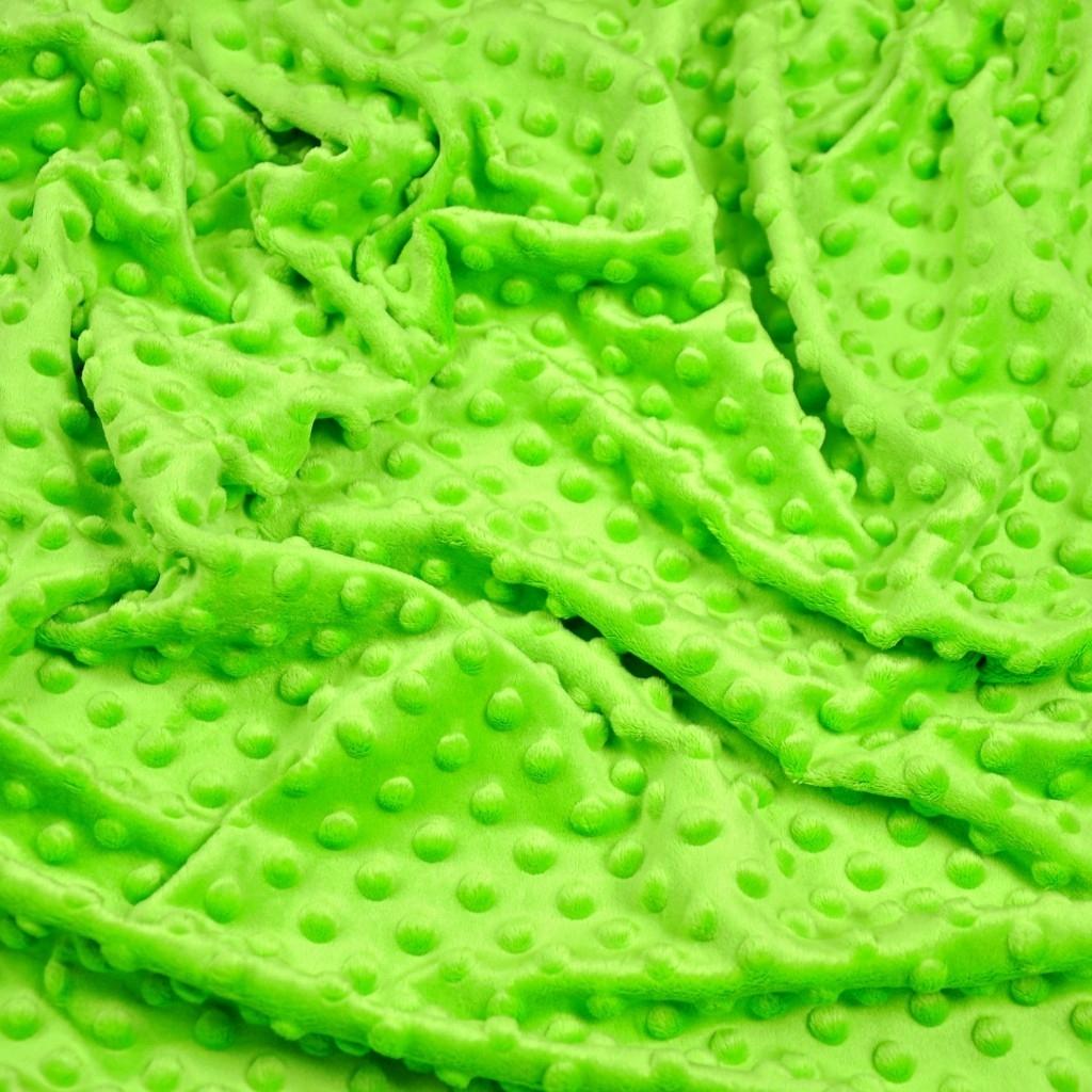 Materiał Minky Premium Jasny zielony (Jasmine Green)