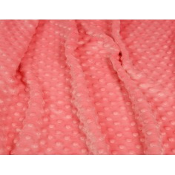 Materiał Minky Premium mrożona truskawka (Strawberry Ice)