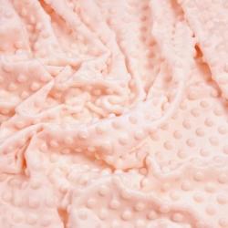 Imagén: Materiał Minky Premium jasna morela (Soft Pink)