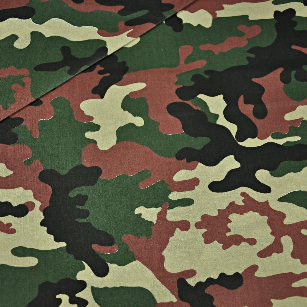 Tkanina we wzór MORO duży zielono brązowy