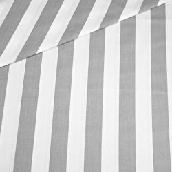 Tkanina w pasy biało szare