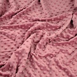 Materiał Minky Premium brudny róż