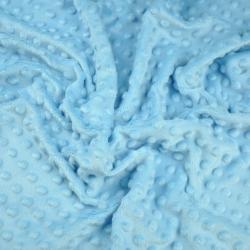 Materiał Minky Premium błękitny