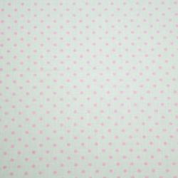 Tkanina w Kropki różowe na białym tle