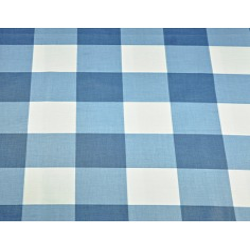 Tkanina krata duża niebieska