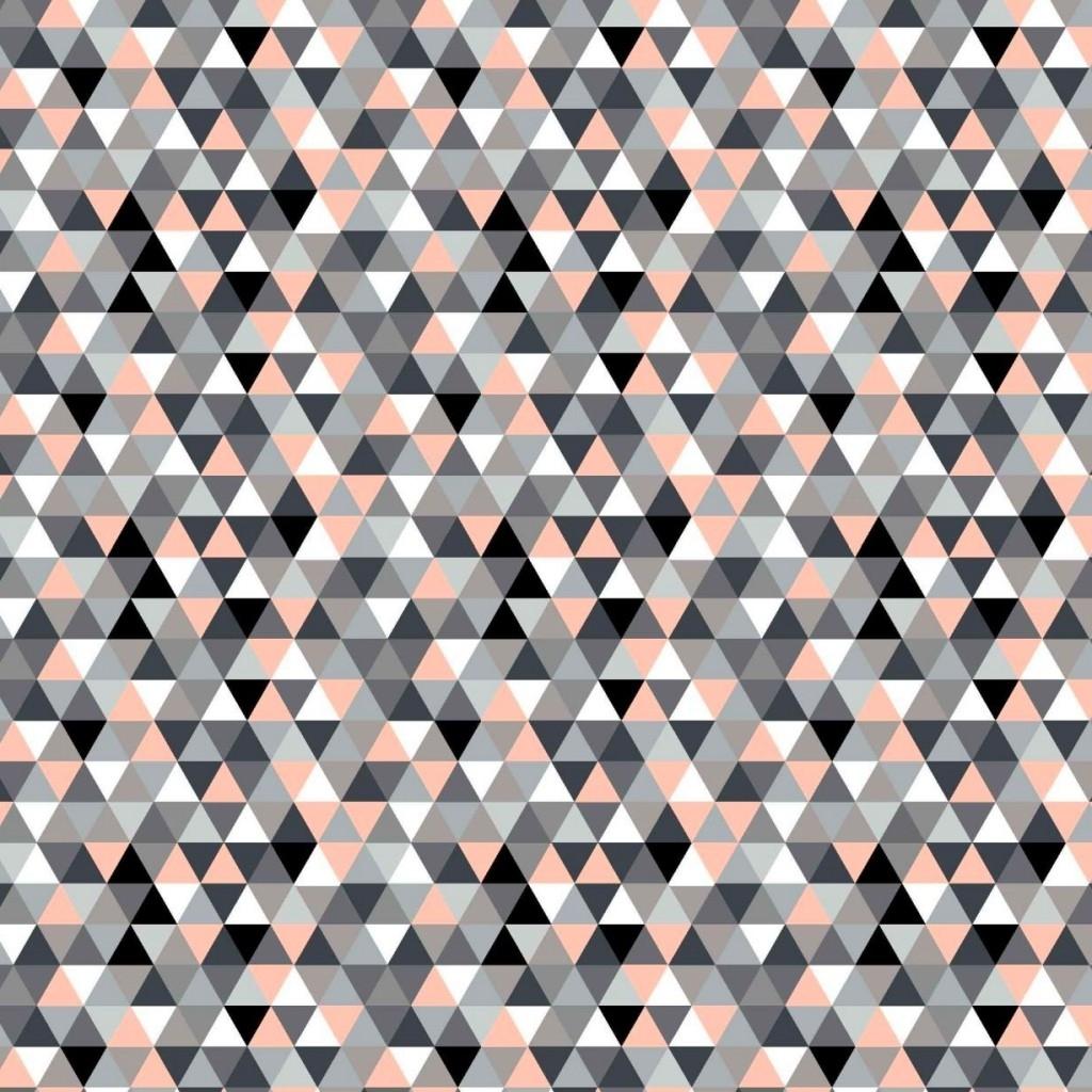 Tkanina w trójkąty małe kolorowe morelowe na białym tle