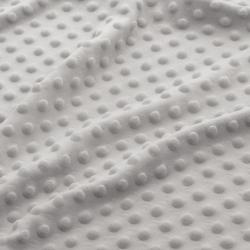 Materiał Minky Premium cienkie - jasno szary