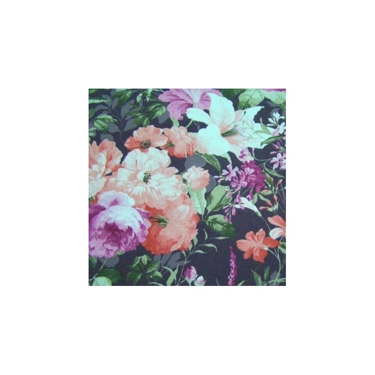 Curtain Fabric with flowers 6 CANVAS