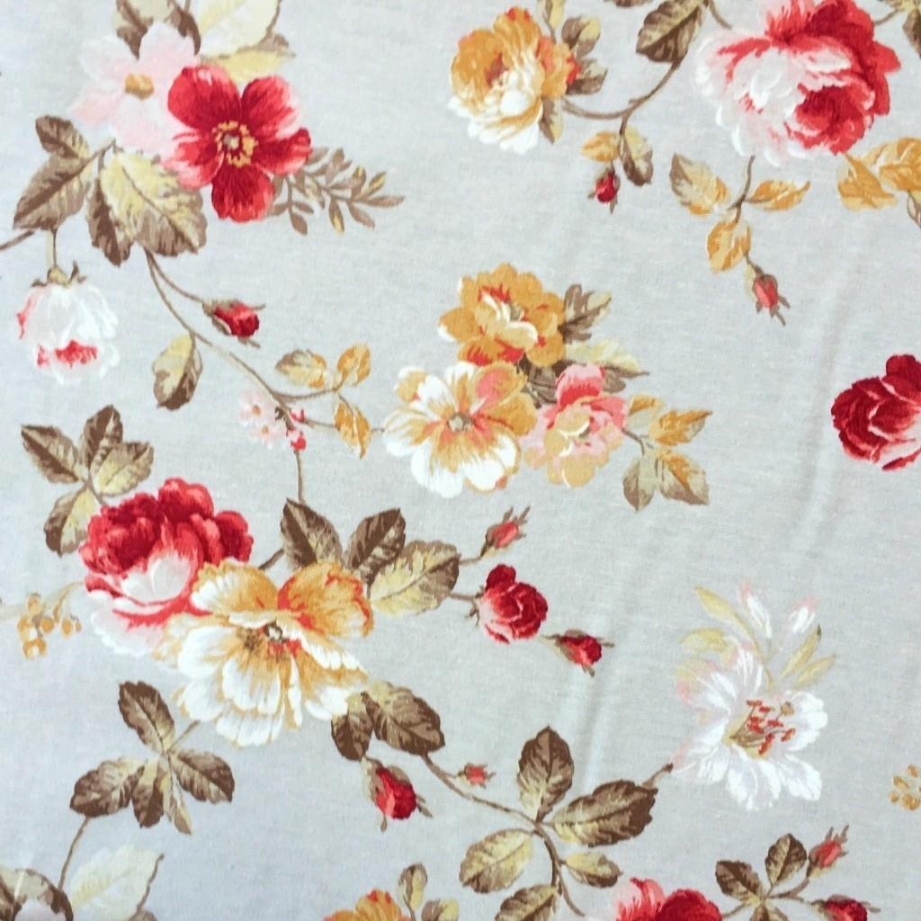 Tkanina Zasłonowa w kwiaty 5 CANVAS