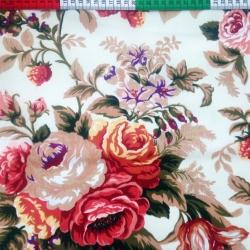 Tkanina Zasłonowa w róże angielskie Canvas