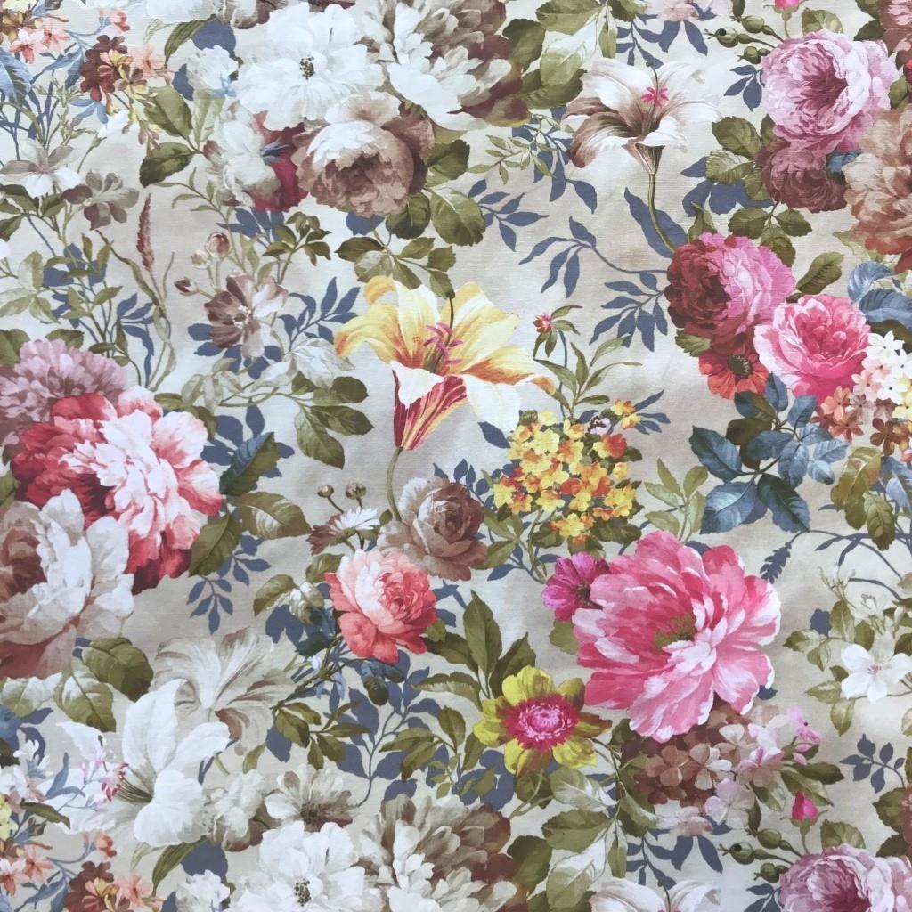 Tkanina Zasłonowa kwiaty 31 CANVAS