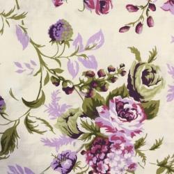 Tkanina w róże cygańskie fioletowe