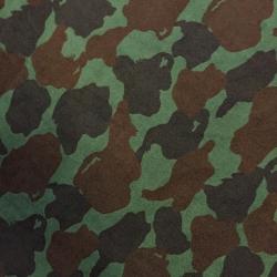 Tkanina Polar moro brązowo zielony