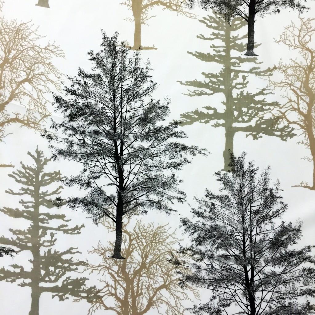 Tkanina w drzewa brązowe na białym tle