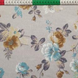 Tkanina Zasłonowa kwiaty 10 CANVAS