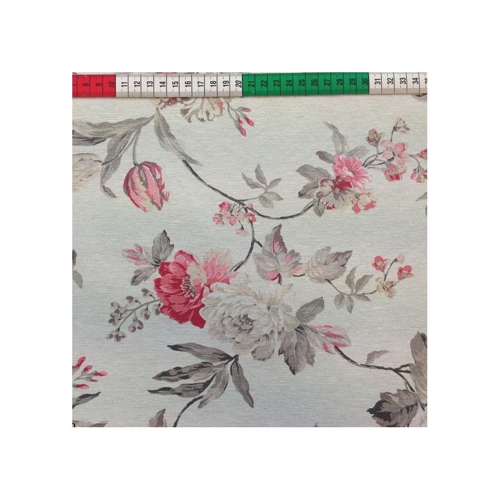 Tkanina Zasłonowa w kwiaty 11 CANVAS