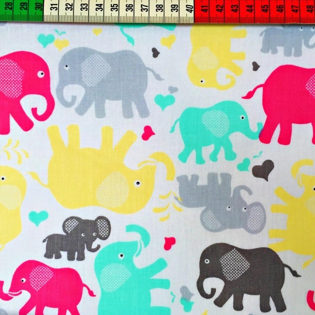 Tkanina w słonie szaro różowe