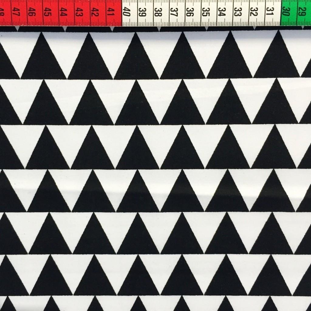 Tkanina w Trójkąty czarno białe