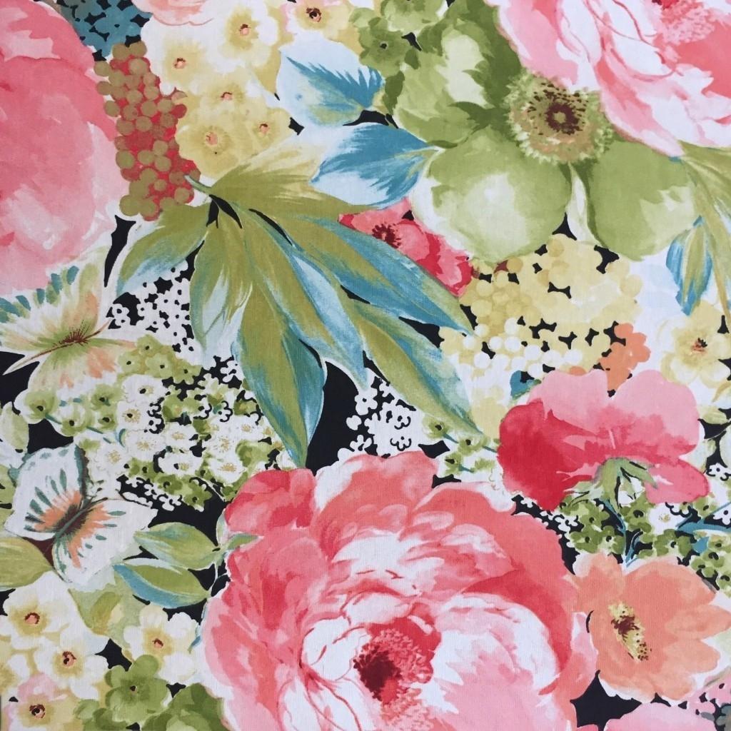 Tkanina Zasłonowa kwiaty 7 CANVAS