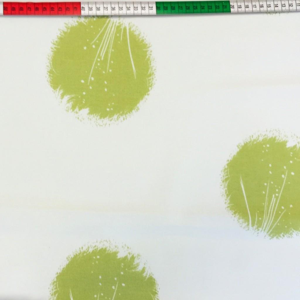 Tkanina Zasłonowa dmuchawce zielone CANVAS