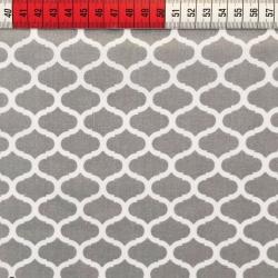Tkanina wzór maroko szary