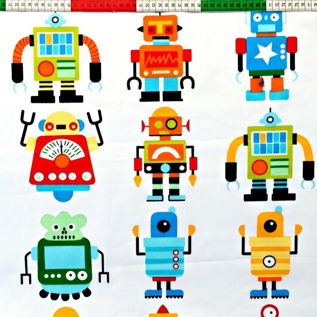 Roboty Kolorowe Na Białym Tle