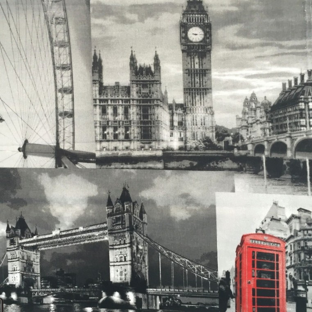 Tkanina w Londyn szary