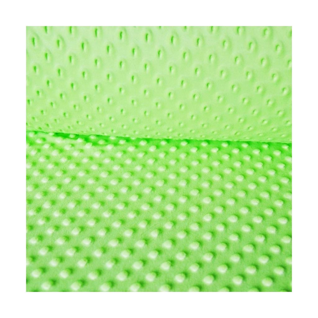 Materiał Minky zielone jabłuszko 27