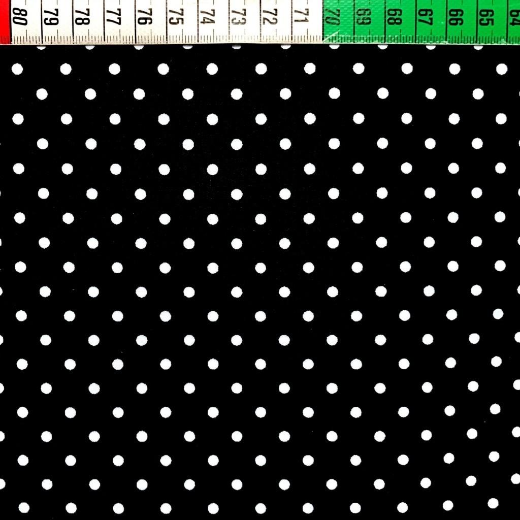 Tkanina w kropki białe na czarnym tle