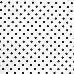 Tkanina w Kropki czarne na białym tle