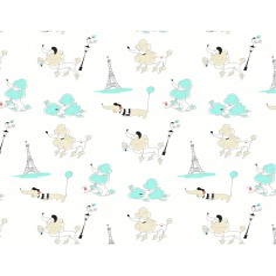 Tkanina Paryż morski na białym tle