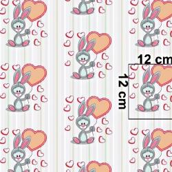 Tkanina królik Bugs z różowym balonikiem