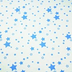 Tkanina galaktyka mała niebieska na białym tle