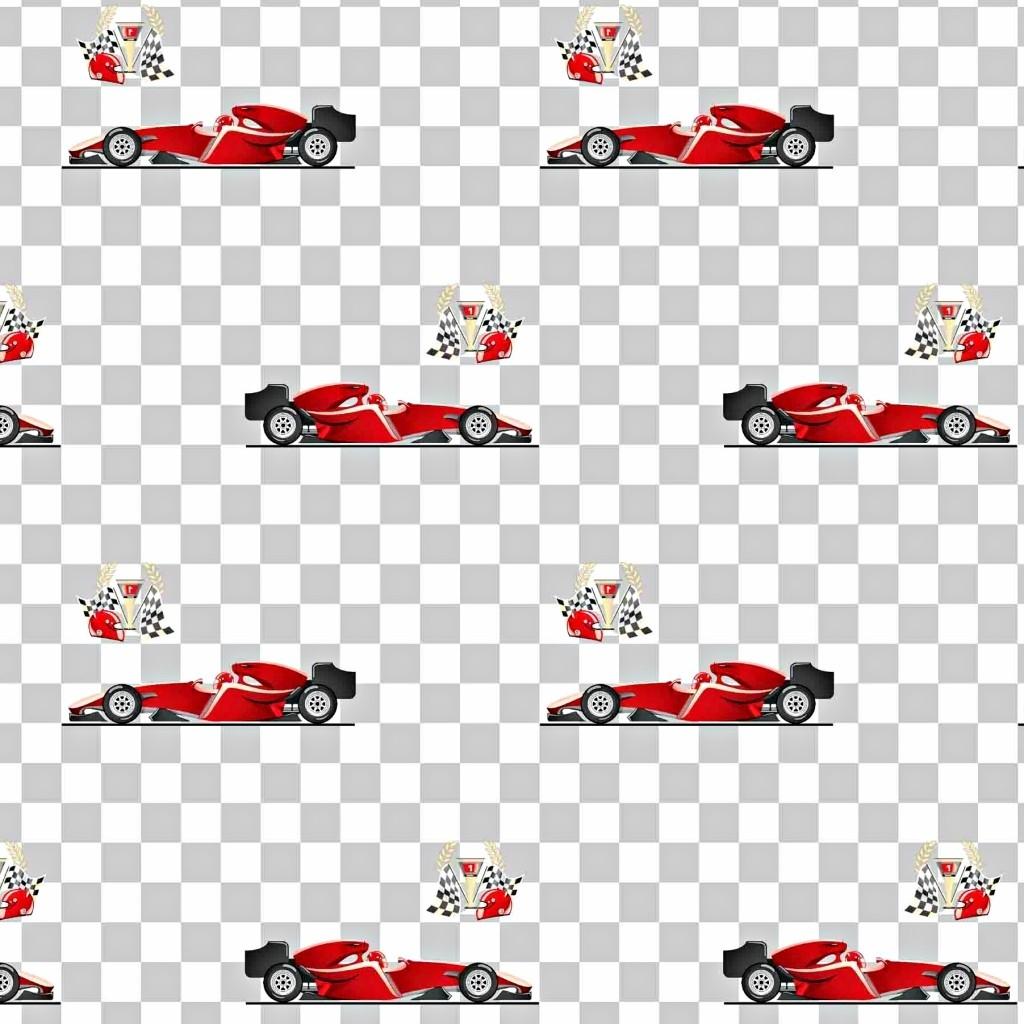 Tkanina w samochody F1 czerwone na biało szarej kracie